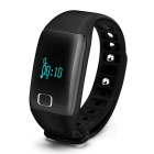 Eastor T1 Bluetooth Smart Bracelet w/ Heart Rate Monitor - Black
