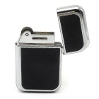 Classic Ultrathin Butane Gas Lighter - Silver + Black