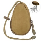 FURA Oxford Fabric Coin Purse Key Bag with Lanyard - Khaki