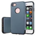 Premium Dual Layer PC + TPU Case for IPHONE 7 - Navy Blue + Black