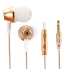 Stereo Bass in-Ear Earphones w/ Microphone for Iphone / HTC / Samsung + More
