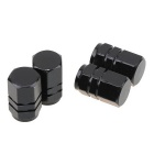 ZIQIAO Car Tire Valves Decoration Caps - Black (4PCS)