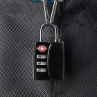 Naturehike 3-Digit Combination Password Lock - Black + Red