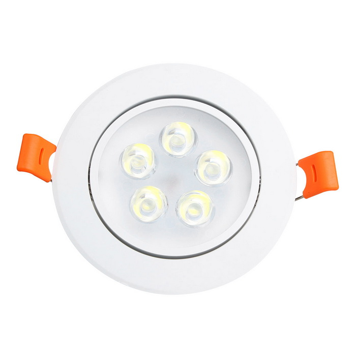 ZIQIAO 5W 550lm 5-LED Cold White Light LED Ceiling Light / Spotlight
