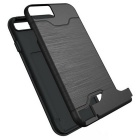 Protector Wiredrawing Back Case w / ranuras de tarjeta para IPHONE 7 - Negro