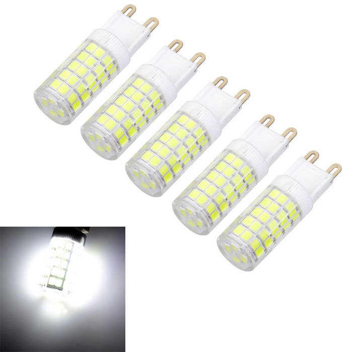 Marsing 5pcs G9 8W 600lm 64-SMD 2835 Cold White LED Crystal Lamp Bulbs