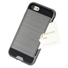 Wiredrawing TPU Phone Back Case w/ Card Slots for IPHONE 7 - Grey