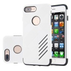 Dual Layer PC + TPU Case for IPHONE 7 PLUS - Black + White