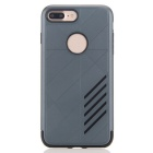 Dual Layer PC + TPU Back Case for IPHONE 7 PLUS - Navy Blue + Black