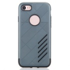 Dual Layer PC + TPU Back Case for IPHONE 7 - Navy Bblue + Black