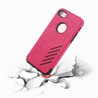 Dual Layer PC + TPU Back Case for IPHONE 7 - Black + Red