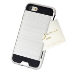 Wiredrawing TPU Phone Back Case w/ Card Slots for IPHONE 7 - Silver