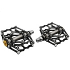 MZYRH Aluminum Alloy Super Light Mountain Bike Pedals - Black (Pair)