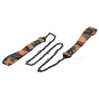 Portable Foldable Manual See-Saw Chain Saw - Camouflage
