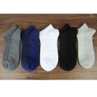 Cotton Net Breathable Ankle Socks - Multicolor (5 Pairs)