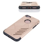 Dual Layer PC + TPU Back Case for IPHONE 7 - Black + Golden