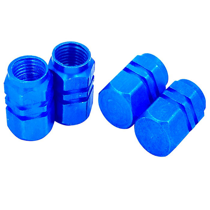 ZIQIAO Car Tire Valves Decoration Caps - Blue (4PCS)