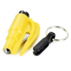 Mini Safety Window Glass Breaker Seat Belt Cutter - Yellow