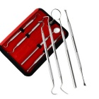 Tooth Scraping Wax Carving Kit Tooth Cleaning Tool Set - Silve (4 PCS)