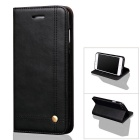 Vintage Premium PU + TPU Flip Wallet Case, Slim Flip Cover with ID Card Holder, Magnetic Closure