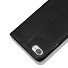 Vintage Premium PU + TPU Flip Wallet Case for IPHONE 7 - Black
