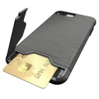 Protective Wiredrawing Back Case w/ Card Slots for IPHONE 7 Plus -Grey