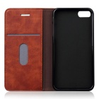 Vintage Premium PU + TPU Flip Wallet Case for IPHONE 7 - Brown