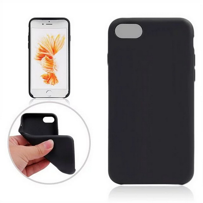 Protective TPU Back Case Cover for IPHONE 7 4.7 - BlackTPU Cases<br>Form  ColorBlackQuantity1 DX.PCM.Model.AttributeModel.UnitMaterialTPUCompatible ModelsiPhone 7DesignSolid Color,MatteStyleBack CasesPacking List1 * Back case<br>