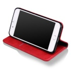 Premium PU + TPU Flip Wallet Case for IPHONE 7 PLUS w/ Stand - Red