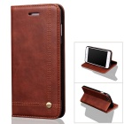 Premium PU + TPU Flip Wallet Case for IPHONE 7 PLUS w/ Stand - Coffee