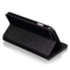 Premium PU + TPU Flip Wallet Case for IPHONE 7 PLUS w/ Stand - Black