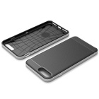 caja de la PC + TPU protector para IPHONE 7 PLUS - negro + plata