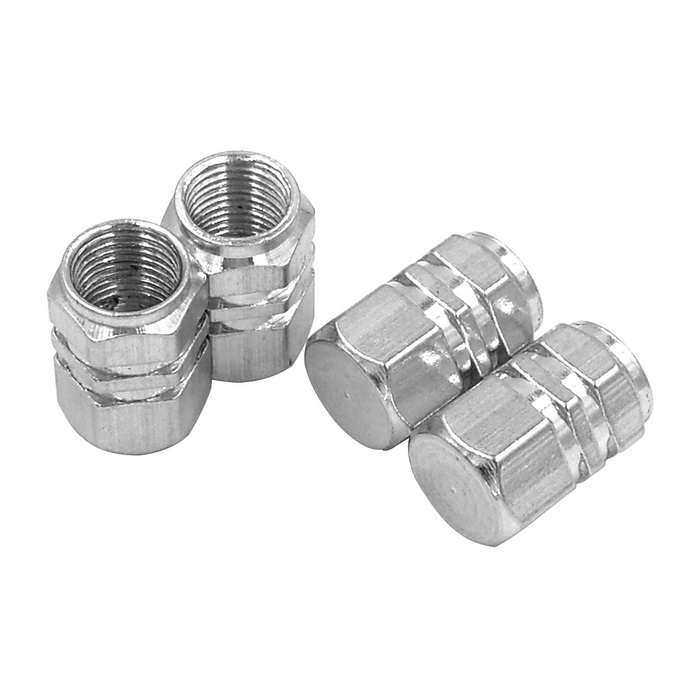 ZIQIAO Car Tire Valves Decoration Caps - Silver (4PCS)