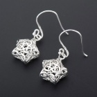 SILVERAGE Sterling Silver Star Filigree Drop Dangle Earrings