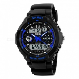 SKMEI 0931 Men's Digital Quartz LED Sports Watch - Silvery Grey (L)