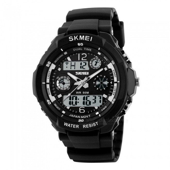 SKMEI 0931 Mens Digital Quartz LED Sports Watch - Silvery Grey (L)Sport Watches<br>Form  ColorSilver GreyModel0931Quantity1 DX.PCM.Model.AttributeModel.UnitShade Of ColorSilverCasing MaterialABSWristband MaterialQuality PU plastic / SportsSuitable forAdultsGenderMenStyleWrist WatchTypeSports watchesDisplayAnalog + DigitalBacklightGreenMovementOthers,Digital + QuartzDisplay Format12/24 hour time formatWater ResistantWater Resistant 5 ATM or 50 m. Suitable for swimming, white water rafting, non-snorkeling water related work, and fishing.Dial Diameter4.8 DX.PCM.Model.AttributeModel.UnitDial Thickness1.6 DX.PCM.Model.AttributeModel.UnitWristband Length26 DX.PCM.Model.AttributeModel.UnitBand Width2.2 DX.PCM.Model.AttributeModel.UnitBattery1 * CR2016 / SR626SWOther FeaturesFeatures: Multiple Time Zone, Alarm, Calendar, Chronograph, LuminousPacking List1 * Watch<br>