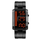 SKMEI 1179 Men's Fashion Sport Watch Digital LED Display Watch - Black