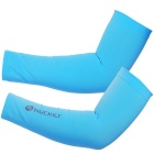 Outdoor Sports Cycling Unisex Seamless Cuff Arm Sleeves (Pair)