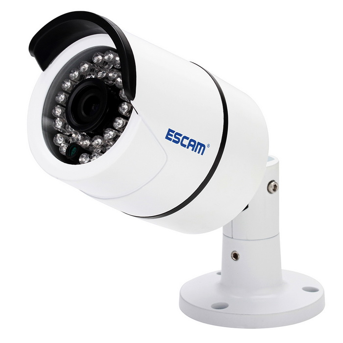 "ESCAM QD410 H.265 1/3"" CMOS 4.0MP 3.6mm câmera de IP de P2P (nós plugue)"