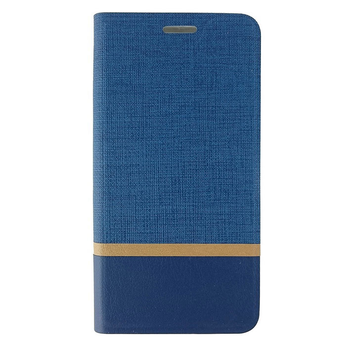 TPU + PU Leather Card Slot Case for IPHONE 7 Plus - Blue + Orange