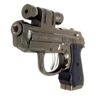 Refined Multi-purpose Toy Gun Type Cigarette Lighter - Grey + Black