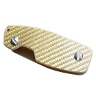 Carbon Fiber Key Holder Organizer Clip Folder Keychain Keyring - Glod
