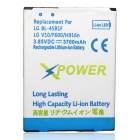 "Replacement 3.85V ""3700mAh"" Battery for LG V10"