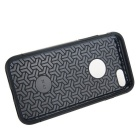 caso la capa de PC + TPU de doble prima para IPHONE 7 - negro + oro