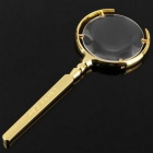 Classic Handheld Stainless Steel + Glass Magnifier - Golden