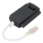 USB 2.0 to IDE/ SATA  HD HDD Converter Adapter Cable - Black