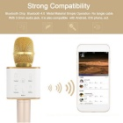 Mini Bluetooth Wireless Handheld Karaoke Singing Microphone - Golden