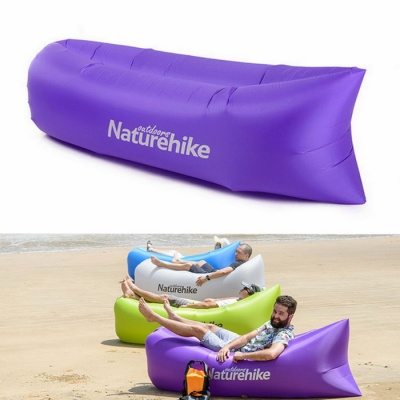 Naturehike Portable Waterproof Inflatable Sofa Sleeping Bag - Violet