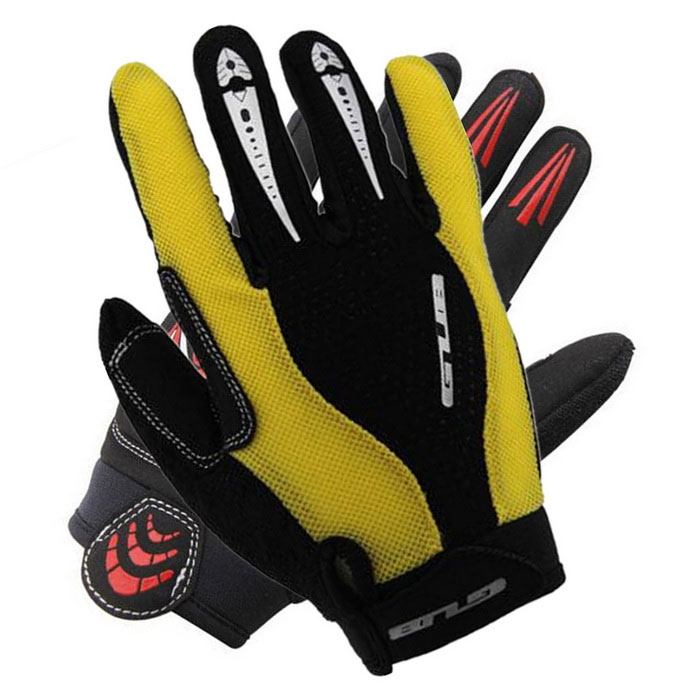 GUB Autumn / Winter Cycling Gloves - Yellow + Black (Pair / L)