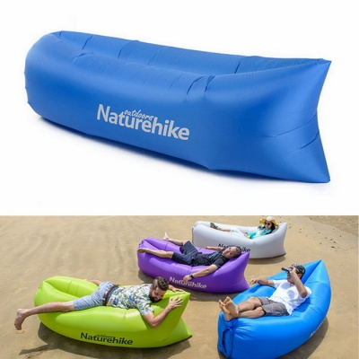 Naturehike Portable Waterproof Inflatable Sofa Sleeping Bag - Blue